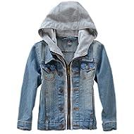 [Sponsored]Mallimoda Kids Boys Girls Hooded Denim Jacket Zipper Coat Outerwear