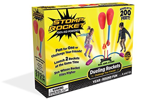 Stomp Rocket Dueling Rockets, 4 Rockets [Packaging May - Foam Rocket Powered Air