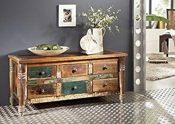 Massivmoebel24de Massiv Holz Möbel Vintage Lackiert Sideboard