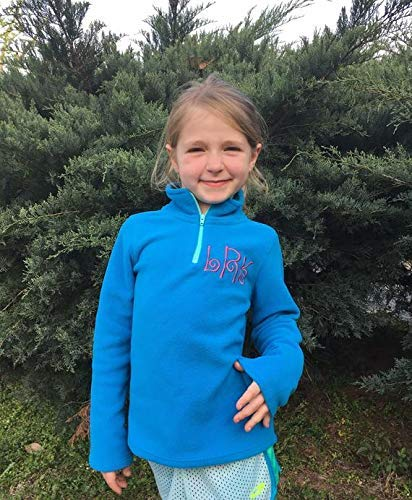 Little Girls Personalized Fleece Pullover Girls Monogram Fleece Pullover Personalized Quarter Zip Pullover