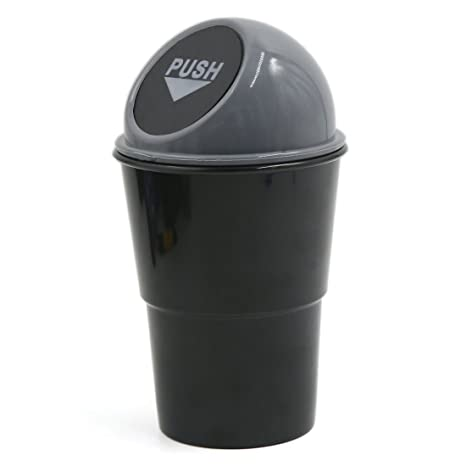 Car & Truck Interior Parts Auto Car Office Grey Waste Trash Rubbish Bin Can Garbage Dust Case Holder Car & Truck Parts