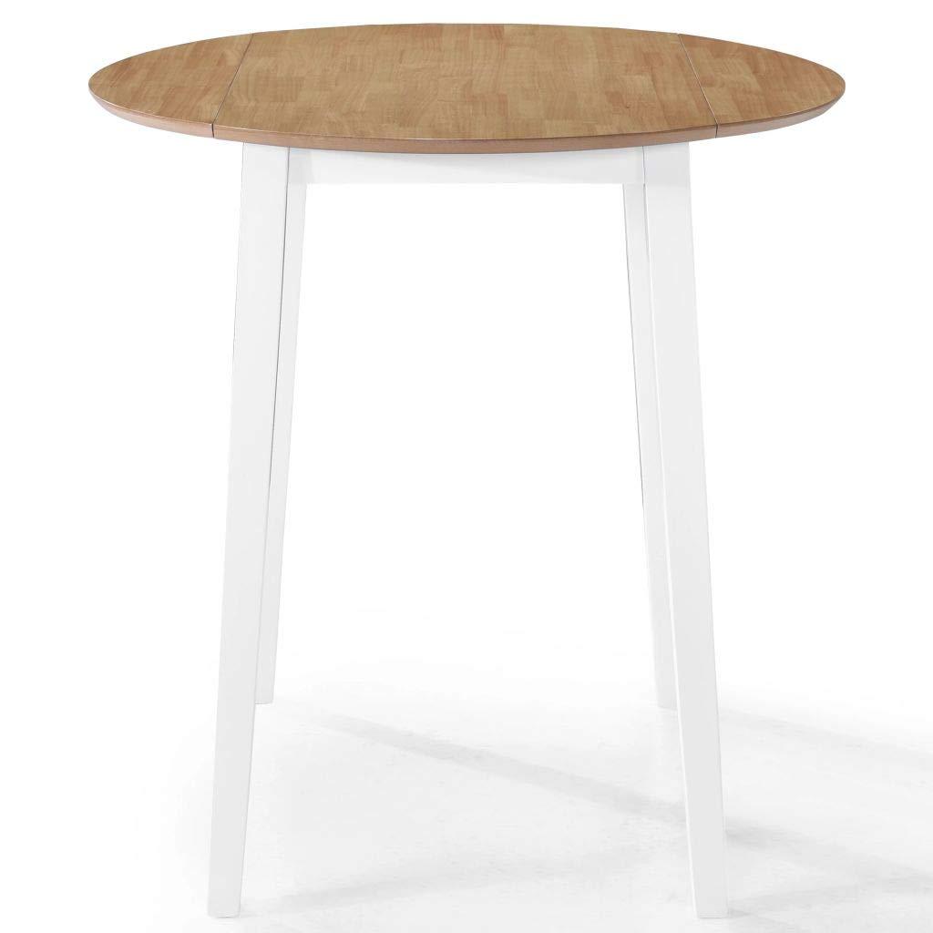 Festnight Bar Table Solid Wood 90x91 cm Natural