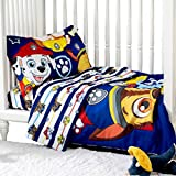 3 Piece Toddler Bedding Set, Paw Patrol Standard Crib Bedding Set, Includes Soft Microfiber Reversible Comforter, Fitted Sheet, Pillowcase for Kids by Expressions