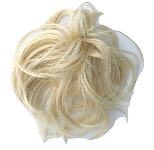 Scrunchie Hair Extension Blonde Fuller Scrunchie Up Down Do Super Spiky Twister Synthetic (Spiky Blonde Wig)