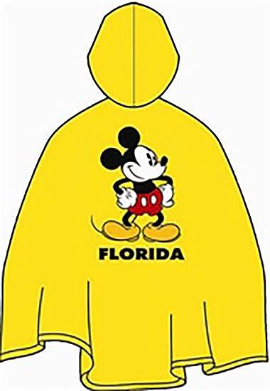 Disney Mens Mickey Mouse Florida Rain Poncho