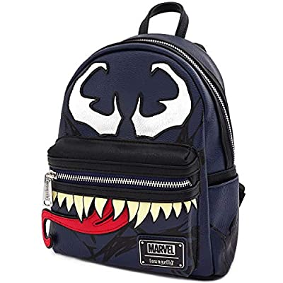 Loungefly Marvel Venom Faux Leather Mini Backpack Standard | Casual Daypacks