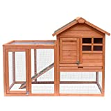 Merax Wooden Pet House Rabbit Bunny Wood Hutch House Chicken Coops Chicken Cages