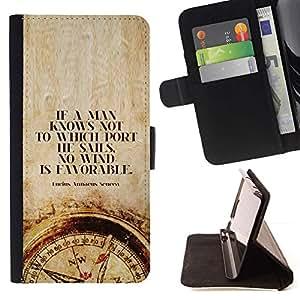 Momo Phone Case / Flip Funda de Cuero Case Cover - Intelligent Compass Citation profonde - LG OPTIMUS L90