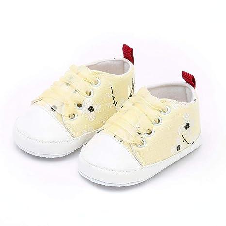 ZODOF Bebés Recién Nacidos Bebé Niñas Niños Bordado Floral Imprimir Suela Suela Suave Zapatos Casuales Calzado Deportivo Correr Zapatos Ligero y ...