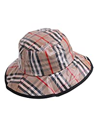lanliebao Women's Rain Hats Waterproof Rain Hat Wide Brim Bucket Hat Rain Cap