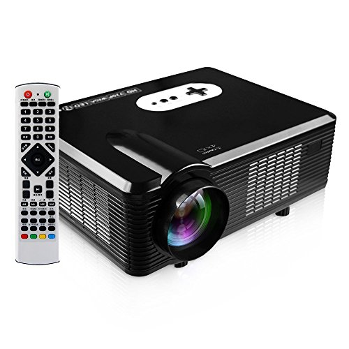 GBTIGER 3000LM LED Projector, Multi-function 1280 x 800 Pixels LED Projector for Home Business Education Cinema with HDMI/USB/VGA/YPbP/Composite A/V Audio Out(L/R)/Analog TV