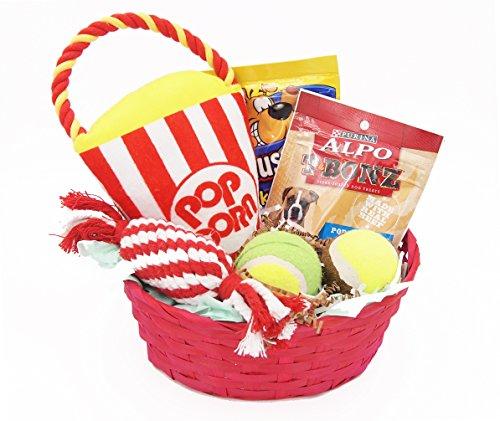 Dog Gift Basket Treats Crewing Toy Holiday Set