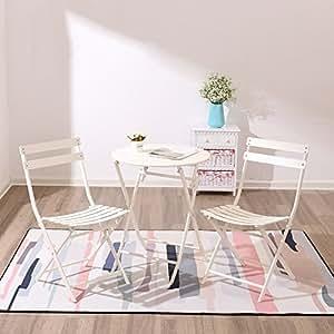 mesa plegable Chunlan Dos sillas Plegables Familia de ...