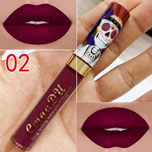 Oksale Long-Lasting Liquid Lipstick Moisturizer Matt Lipstick Cosmetic Beauty Makeup (B)