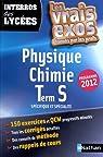 Physique-Chimie Tle S spécifique et spécialité : Programme 2012 par Masset