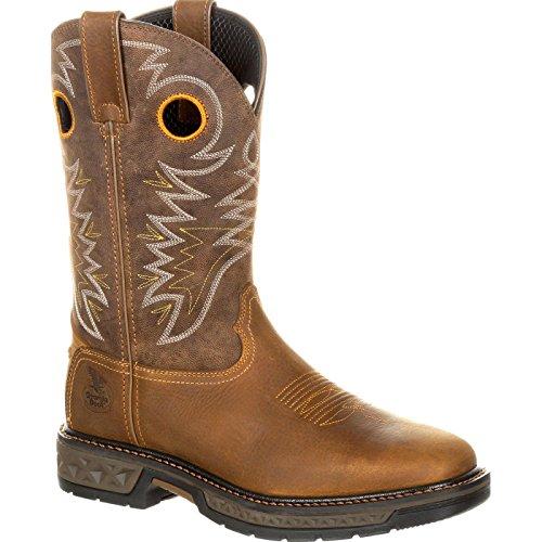 Georgia Men's Boot Carbo-Tec Western Work Square Toe Brown 10 ()