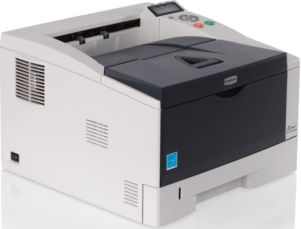 Kyocera 1102L02US0 ECOSYS FS-1370DN Black and White Desktop Printer paper capacity of up to 800 sheets Duplex functionality for double-sided printing as standard Up to 37 pages per minute Max