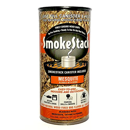 SmokeStack Mesquite Flavor Gourmet Smoking Chips and Canister Kit