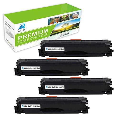 Aztech 4 Pack Replaces Samsung CLT-K504S CLT-C504S CLT-Y504S CLT-M504S Black Cyan Yellow Magenta Toner Cartridges For Samsung CLX-4195FW CLP-415NW Xpress SL-C1860FW SL-C1810W Printer