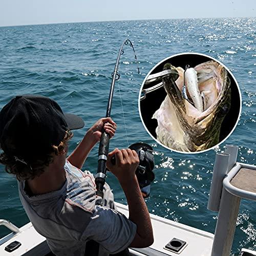Swimbait Hooks 25 PCS Fishing Hooks Weighted Fishing Hooks Bass Hooks with Twistlock Drop Shot Hooks for Freshwater Saltwater Bass,Trout,Redfish,Snook,Tarpon,Salmon,Pike