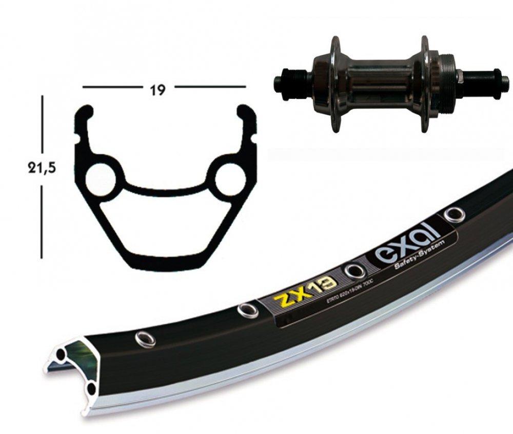 Bike-Parts 26´´ Hinterrad Exal ZX 19 + Schraubkranz-Nabe 6 7-fach