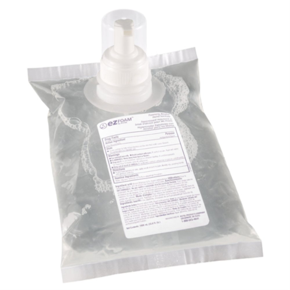 Kutol 68841 EZ Foam Foaming Alcohol Hand Sanitizer, 1000 mL Bags, 6 Bags/Case