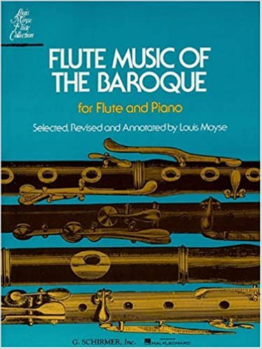 Flute Music Of The Baroque For Flute And Piano Amazon Co Uk Moyse Louis Books