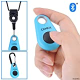 CamKix Camera Shutter Remote Control with Bluetooth Wireless Technology - Drop Style - Compatible with iPhone/Android - One Button Control - Carabiner and Lanyard with Detachable Ring Included