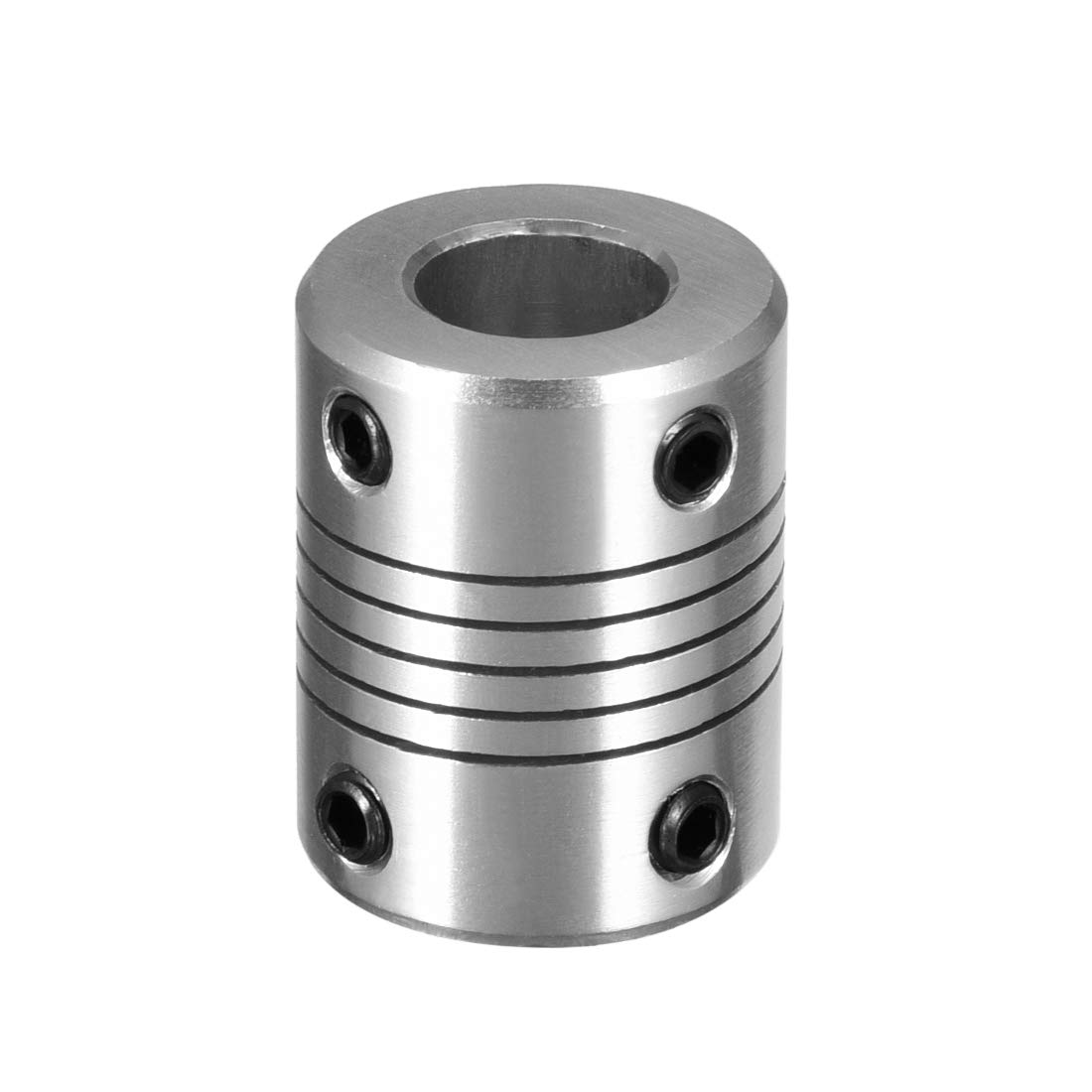 uxcell 5mm to 6.35mm Aluminum Alloy Shaft Coupling Flexible Coupler Motor Connector Joint L25xD19 Silver