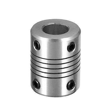 Aluminum Alloy Joint Connector for CNC Engraver machine. TEN-HIGH 5mm x 6mm Shaft Coupling Diameter 18mm Length 25mm Motor Coupler