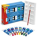 Watercolor Paint Set - 32 Professional Water Color Paints for Artists, Adults - Palette Tray & Paint Brush Included - Kids Watercolors, Washable Colors - Adult Painting Art Supplies Kit w/ 12 ml tubes