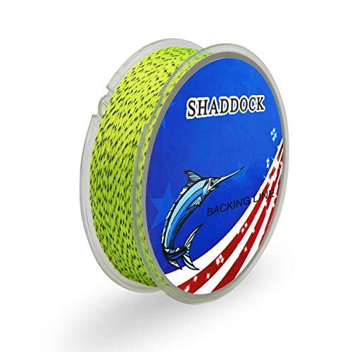 (Abrasion Resistant Backing Fly Fishing Line (Yellow&Black, 20LB-100Yards))