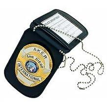 Aker International, Inc. A597-Bp Neck Badge & Id Holder, Black