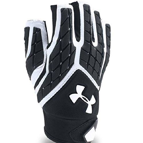 Under Armour Men's Combat V Half-Finger Football Gloves, White (100)/White, Large