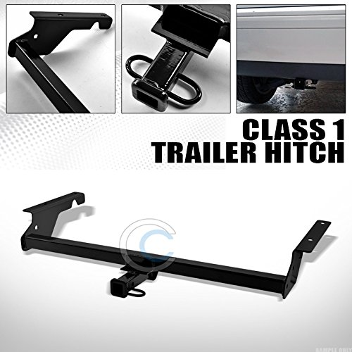 """HS Power Black Finished Class 1 Trailer Hitch Receiver Rear Bumper Tow 1.25"""" for 2004-2011 Volvo S40 V50 4 Door Wagon"""