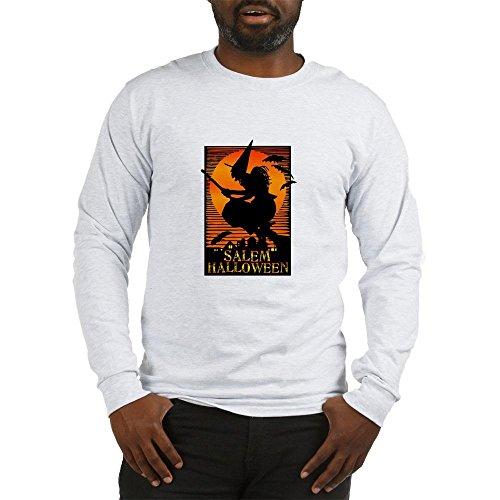 City Of Salem Ma Halloween (CafePress Salem Halloween Long Sleeve T-Shirt Unisex Cotton Long Sleeve T-Shirt Ash)