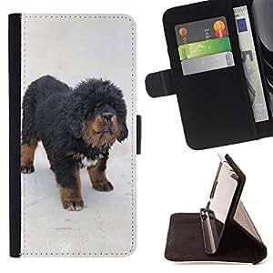 Cat Family ???¡¯?¡??nico Dise???¡¯???¡Ào caja de la PU billetera de cuero - FOR Samsung Galaxy Core Prime - Dog Cute Puppy Pet Paws -