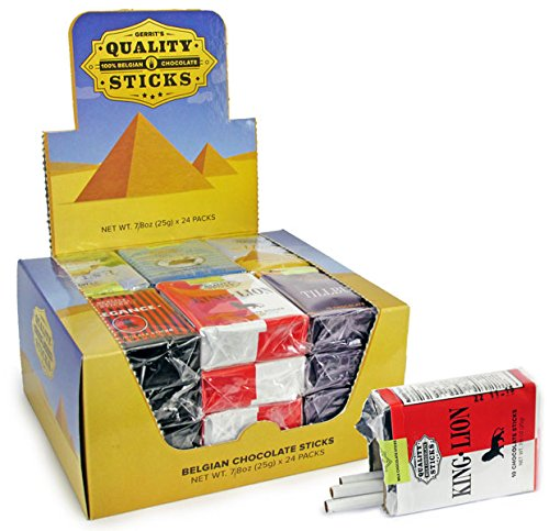 Case of 24 Chocolate Cigarettes Packs - 10 Milk Chocolate Sticks Each x 24