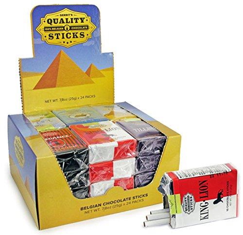 Chocolate Case Pack - Case of 24 Chocolate Cigarettes Packs - 10 Milk Chocolate Sticks Each x 24