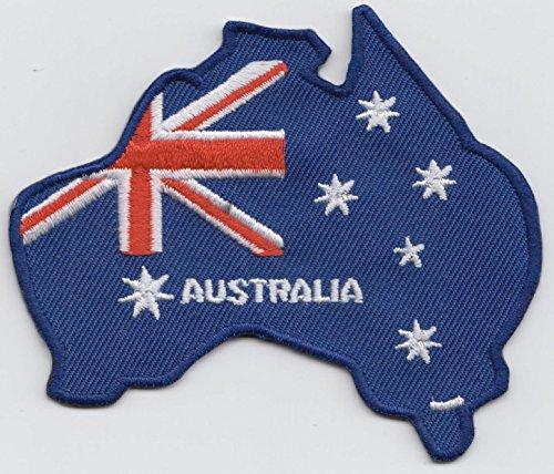 Australia Map Flag Embroidered - Australian Design Map