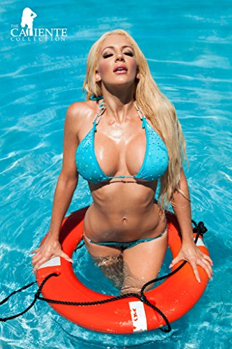 Nicolette Shea Life Preserver Caliente Collection Pinup Photo Cool Wall Decor Art Print Poster 12x18 (Pornstar With Best Legs)