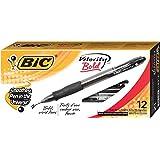 BIC Velocity Ballpoint Bold Point,1.6 mm Retractable Pen (Pack of 12)BICVLGB11BK