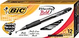 #10: BIC Velocity Ballpoint Bold Point,1.6 mm Retractable Pen (Pack of 12)BICVLGB11BK
