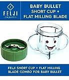 baby bullet short cup - Felji Short Cup Flat Milling Blade Combo for Baby Bullet