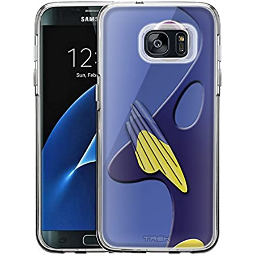 Samsung Galaxy S7 Edge Case, Snap On Cover by Trek Regal Blue Tang Fish One Piece Trans Case Sales