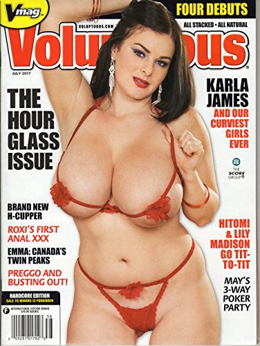 Voluptuous Magazine July 2017 Brand New Sealed Karla James Hitomi Lilly Madison