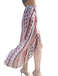 Youngbox Women Beach Maxi Skirt Wrapped Swimsuit Cover Up Dress