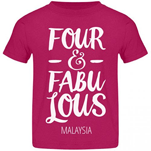 Malaysia Is Four Years Old And Fabulous: Rabbit Skins Jersey Toddler T-Shirt