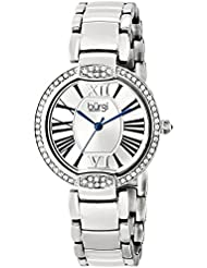 Burgi Womens BUR101SS Crystal Silver-tone Stainless Steel Bracelet Watch