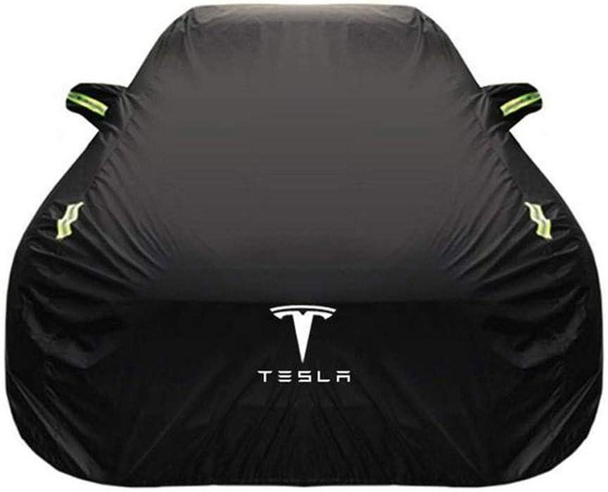 Size : Built-in lint POLKMN Autoabdeckung Autoplanen Auto Abdeckplane Tesla Model 3 Outdoor Indoor Spezialbezug Dicker Oxford-Stoff Sonnenschutz Regendicht